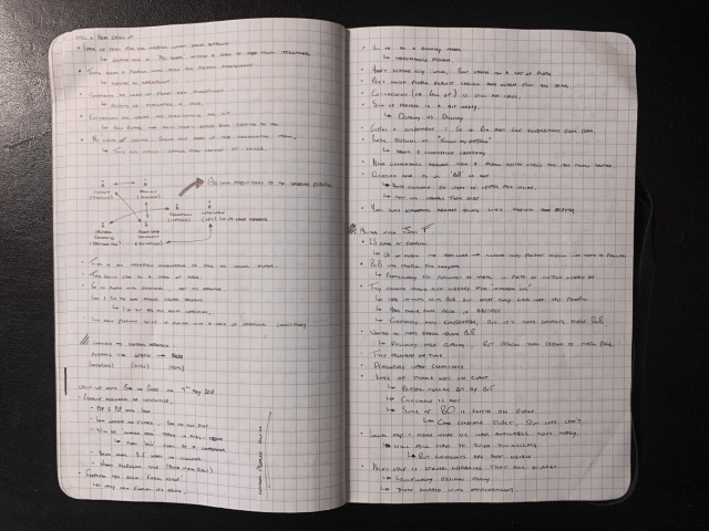 Notes from interviews
